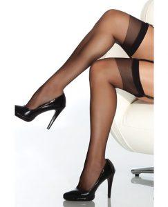 Sheer Thigh High Stocking Black O-s